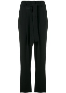 Michael Michael Kors cropped belted trousers - Black