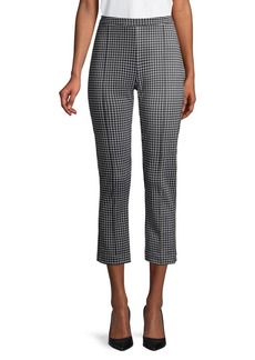 MICHAEL Michael Kors Cropped Checkered Stretch Pants