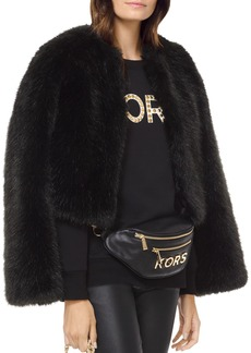 MICHAEL Michael Kors Cropped Faux-Fur Coat