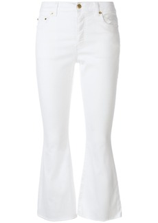 Michael Michael Kors cropped kick-flared trousers - White