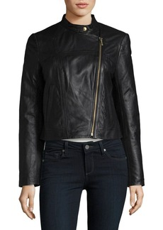 MICHAEL MICHAEL KORS Cropped Leather Jacket