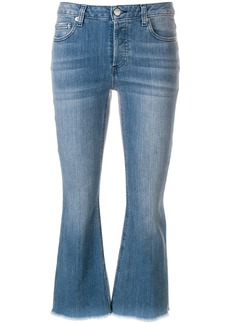 Michael Michael Kors cropped mid-rise flared jeans - Blue