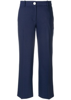 Michael Michael Kors cropped straight-leg trousers - Blue