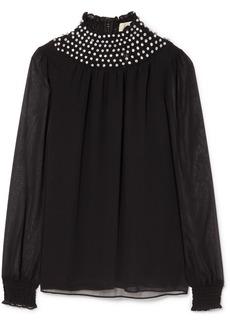 MICHAEL Michael Kors Crystal-embellished chiffon blouse