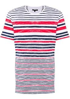 Michael Michael Kors striped crew-neck T-shirt - White