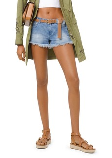 MICHAEL Michael Kors Cutoff Denim Shorts in Angel Blue Wash