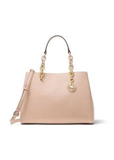 Cynthia Medium Saffiano Satchel Bag