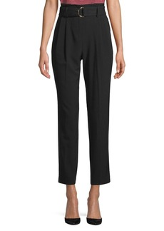 MICHAEL Michael Kors D-Ring Belt Ankle Pants