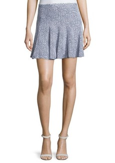 MICHAEL Michael Kors Dallington Printed Flare Skirt