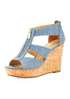 MICHAEL Michael Kors Damita Denim Wedge Sandal