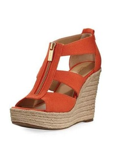 MICHAEL Michael Kors Damita Canvas Wedge Sandal