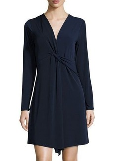 MICHAEL Michael Kors Deep-V Twist-Tie Front Dress