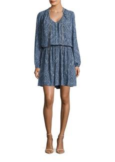 MICHAEL MICHAEL KORS Long Sleeve Paisley-Print Dress
