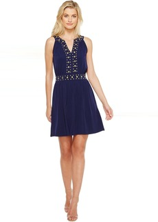 MICHAEL Michael Kors Dome Stud Band Dress