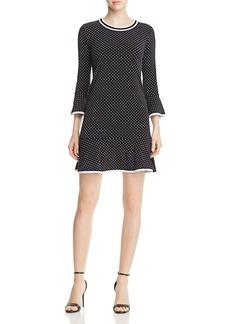MICHAEL Michael Kors Dot Print Flounce Dress