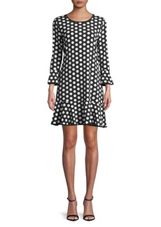 MICHAEL Michael Kors Dot-Print Shift Dress