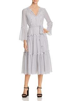 MICHAEL Michael Kors Dot-Print Tiered Midi Dress - 100% Exclusive