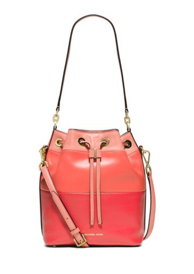 MICHAEL Michael Kors Dottie Degrade Leather Large Bucket Bag