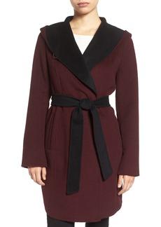 MICHAEL Michael Kors Double Face Hooded Wrap Coat