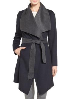 MICHAEL Michael Kors Double Face Wool Blend Wrap Coat