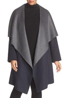 MICHAEL Michael Kors Double Face Wool Blend Wrap Coat (Plus Size)