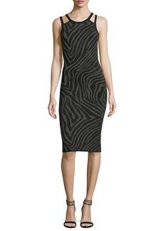 MICHAEL Michael Kors Double-Trim Graphic-Knit Tank Dress