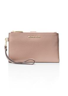 MICHAEL Michael Kors Double Zip Leather Smartphone Wristlet