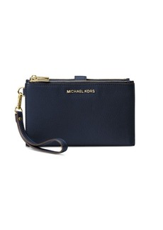 MICHAEL Michael Kors Double Zip Leather Wristlet