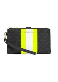 MICHAEL Michael Kors Adele Logo Stripe Smartphone Wallet
