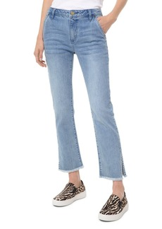 MICHAEL Michael Kors Drain High-Rise Cropped Flared-Leg Jeans in Angel Blue Wash