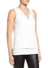 MICHAEL Michael Kors Draped Open Layered Tank