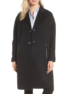 MICHAEL Michael Kors Drop Shoulder Double Face Wool Blend Coat