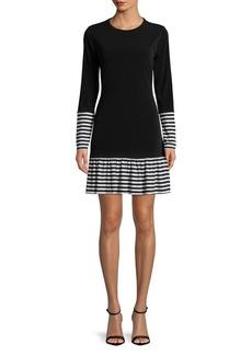 MICHAEL MICHAEL KORS Drop-Waist Stripe Dress