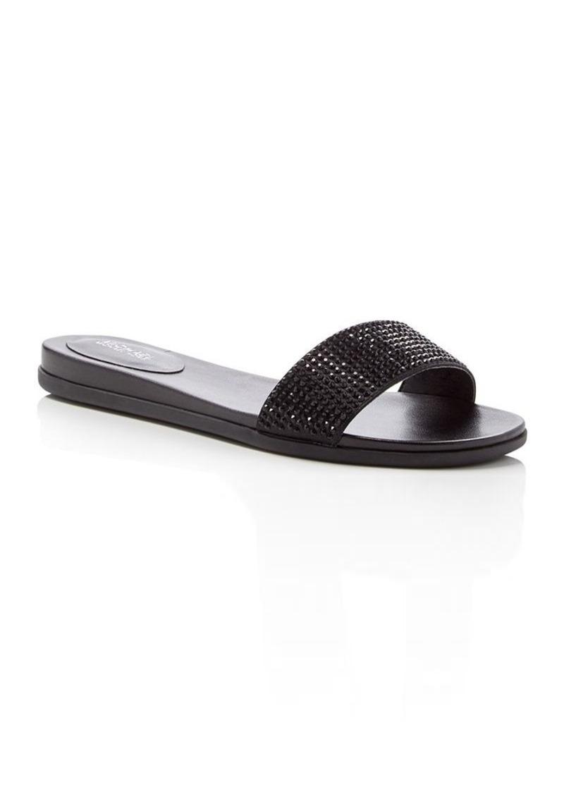 MICHAEL Michael Kors Eleanor Embellished Slide Sandals