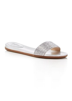 MICHAEL Michael Kors Eleanor Metallic Rhinestone-Embellished Slide Sandals