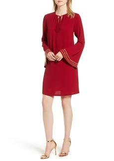 MICHAEL Michael Kors Embellished Bell Sleeve Shift Dress