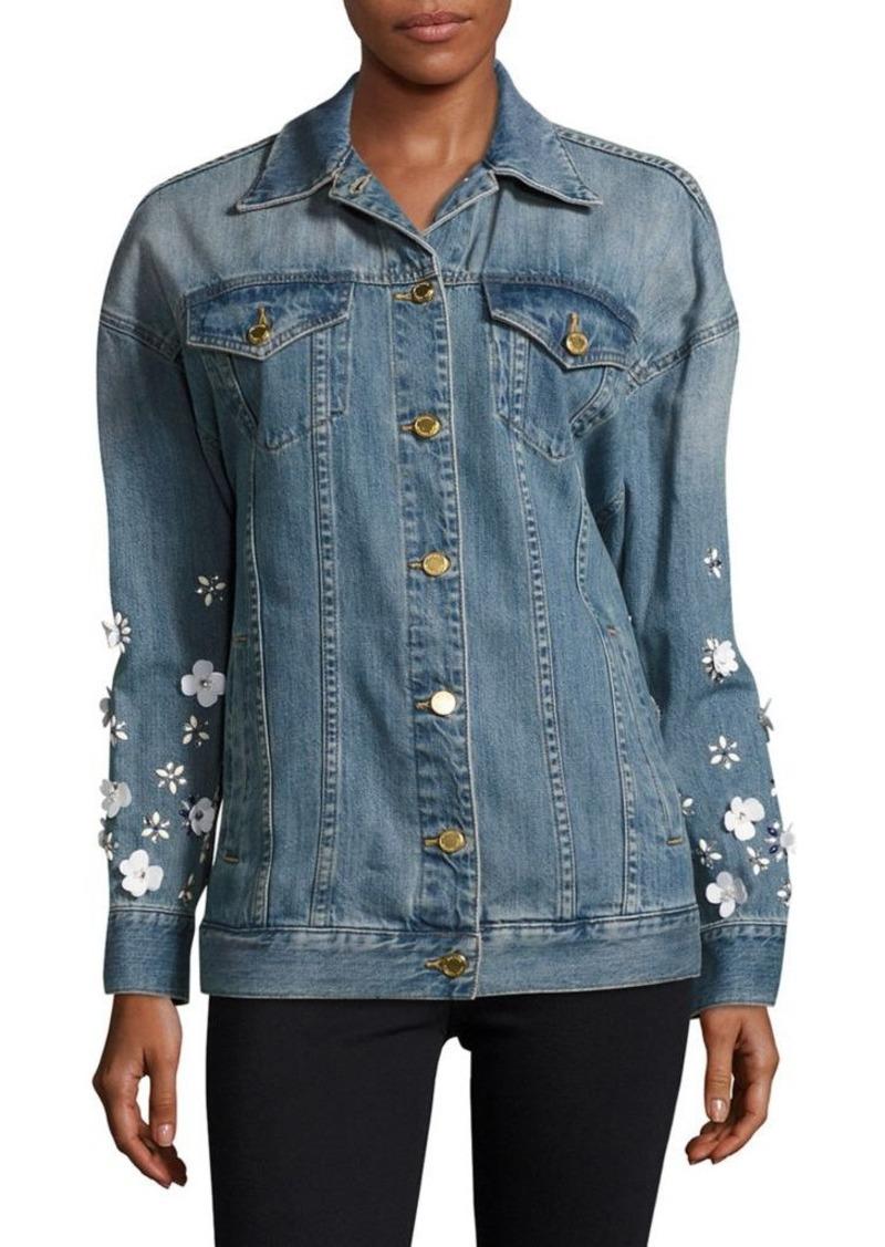 e6b15fc0cd87 SALE! MICHAEL Michael Kors MICHAEL MICHAEL KORS Embellished Denim Jacket