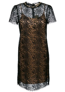 Michael Michael Kors embellished lace dress - Black