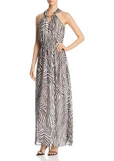 MICHAEL Michael Kors Embellished Neck Maxi Dress