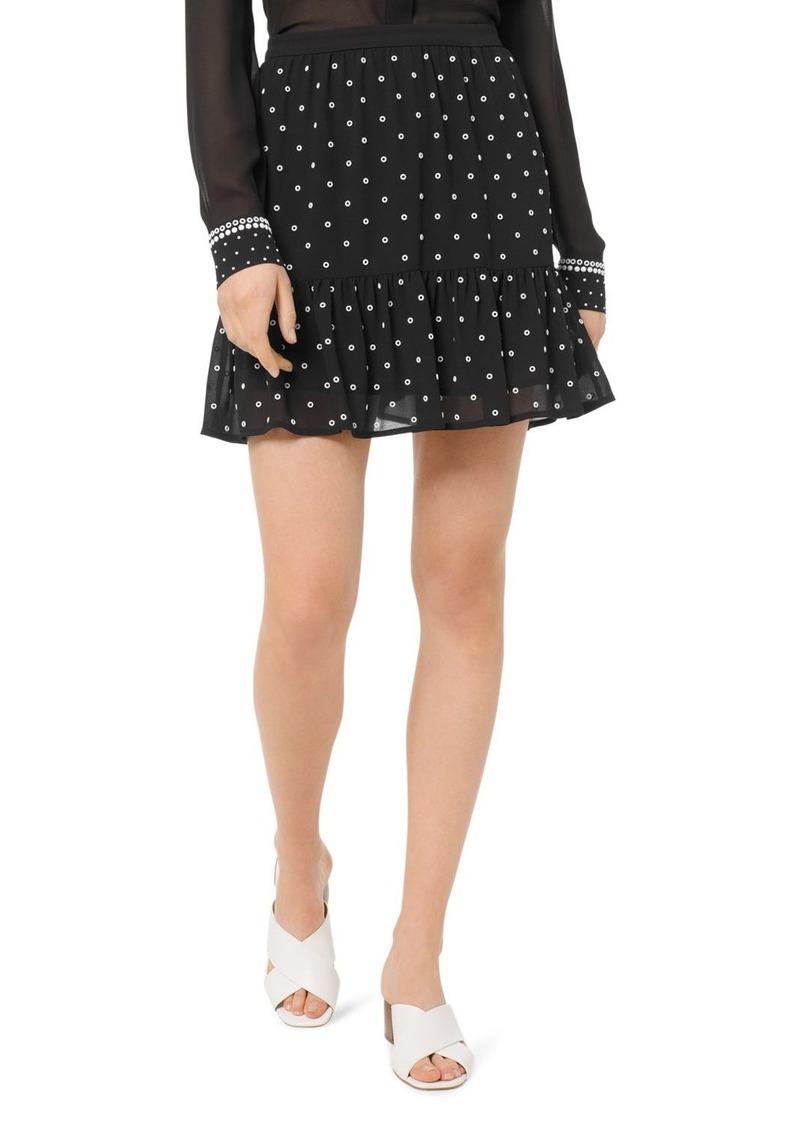 MICHAEL Michael Kors Embellished Ruffled Mini Skirt
