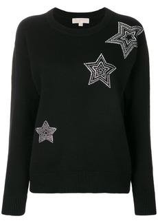 Michael Michael Kors embellished star sweatshirt - Black