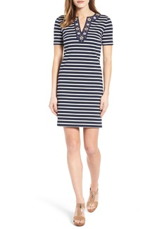 MICHAEL Michael Kors Embellished Stripe T-Shirt Dress