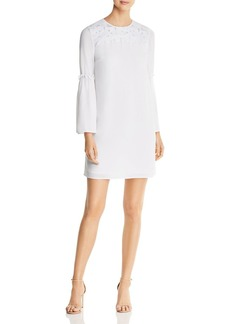 MICHAEL Michael Kors Embroidered Bell-Sleeve Dress