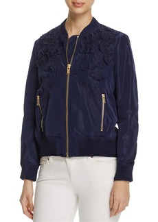 MICHAEL Michael Kors Embroidered Bomber Jacket