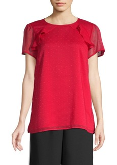 MICHAEL Michael Kors Embroidered Mesh Top