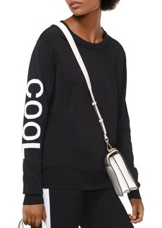 MICHAEL Michael Kors Embroidered Stretch Sweater