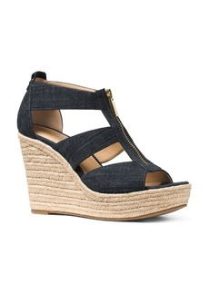 MICHAEL Michael Kors Damita T Strap Espadrille Wedge Sandals