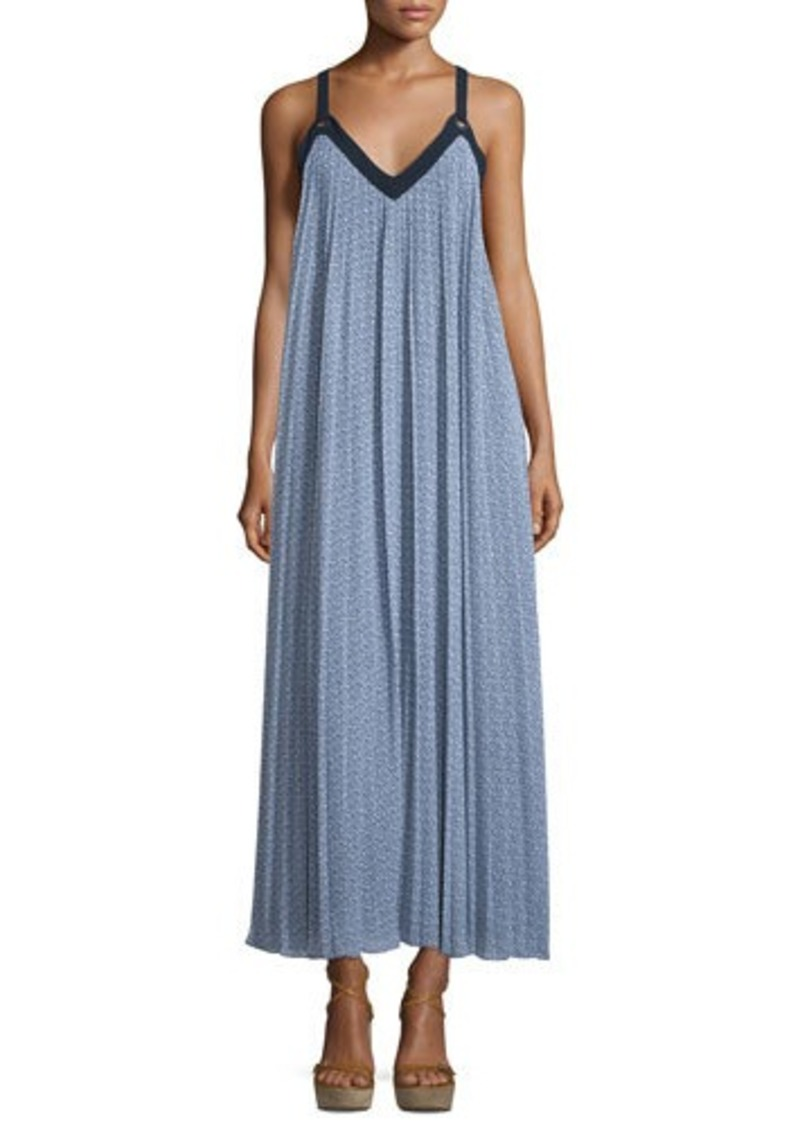 MICHAEL Michael Kors Estrada Pleated Georgette Maxi Dress