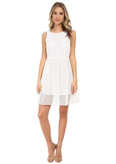 MICHAEL Michael Kors Eyelet Boat Neck Dress