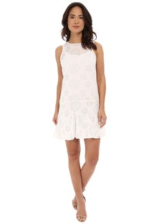 MICHAEL Michael Kors Eyelet Godet Dress